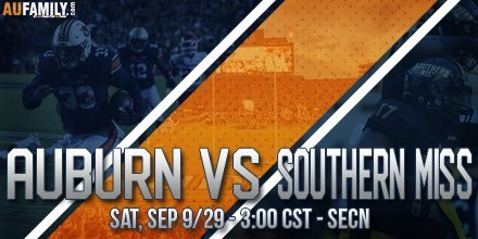 GAME THREAD: Auburn vs Southern Miss