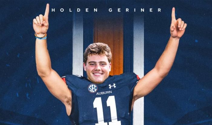 2022 3* QB Holden Geriner Commits to AU!